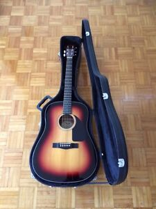 Fender Dreadnought Acoustic w/ Case & Stand