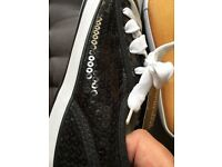 NEW BLACK SEQUINNED LACE UP WOMENS SHOES SIZE 7