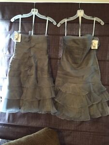 2 Silver Bridesmaids Dresses. $75 each...firm