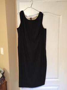 Black sleeveless slip dress