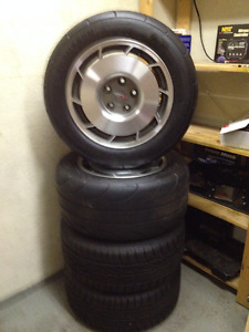 "Original 16"" Corvette rims with mounted tires"