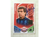VERY RARE SIGNED PETER SHILTON MATCH ATTAX TRADING CARD