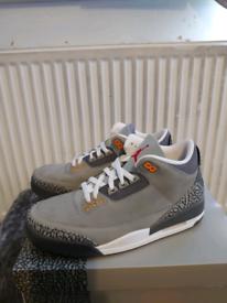 Jordan retro 3 cool grey Size 9 brand new