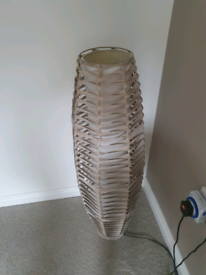 Next free standing wicker lamp