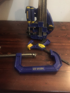 Assorted Irwin Clamps - Used Once -  $100 or best offer