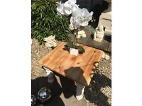 Shabby chic chunky side / end table £25 b on Avon