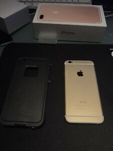 Factory unlocked IPhone 6 128 gb gold mint condition London Ontario image 2