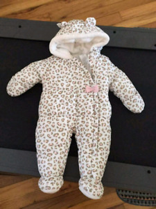 Baby girl snow suit carters