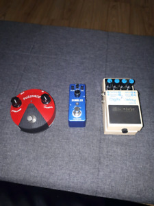 Guitar pedals up for trade.