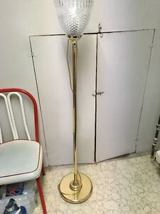"""Standing 56"""" floor lamp with glass defuser, gold color Peterborough Peterborough Area image 1"""
