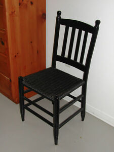 Classic Hardwood Chair with Rattan seating.