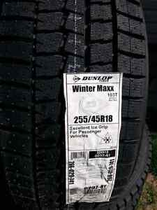 New Dunlop winter tires 255/45R18 West Island Greater Montréal image 3