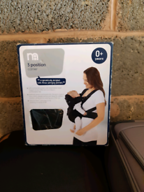 Baby Carrier 0+ Years Boxed Mothercare 3 Position