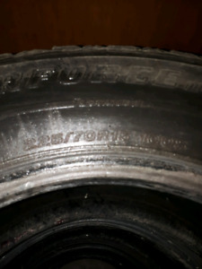 4 Firestone Studded Winter Tires - 225/70/R15