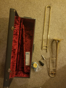 Trombone with Detailed Case