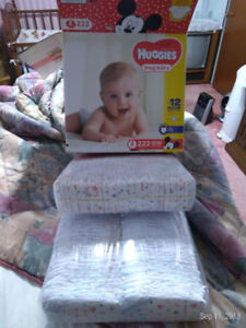 Huggies size 2 diapers for sale.