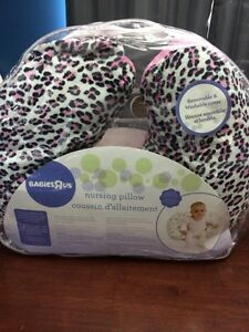 Nursing pillow with Etsy minky cover
