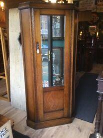 Vintage oak mirror corner wardrobe