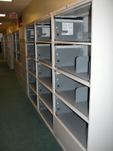 20  Global filing cabinets all flip fronts with sliding drawers
