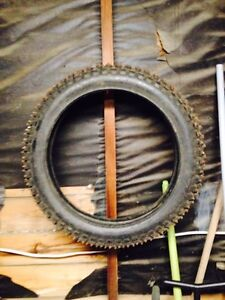 Studded dirt bike tire