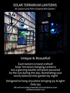 Hand Crafted Terrarium Lanterns~A great garden gift for yourself