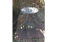 Garden Metal Table & 4 Chairs