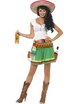 LADIES TEQUILA SHOOTER GIRL WESTERN FANCY DRESS COSTUME SEXY MEXICAN BELT OUTFIT Tequila Shooter