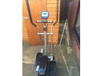 Fitness Elliptical Cross Trainer Cardio Workout Handlebar with ROWING MACHINE FOR FREE only £20