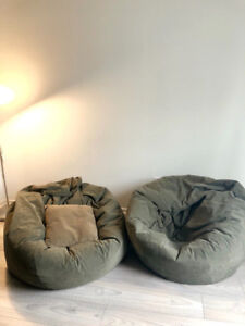 Extra Large Bean bag Chairs (set of 2)