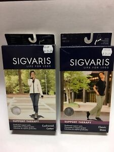 (2) Sigvaris Women's Support Graduated Compression Socks