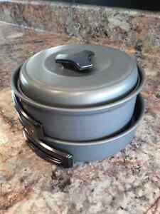 camping pots set, great for backpacking brand new