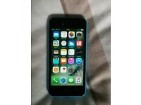 Blue 16g iPhone 5c ee network mobile phone