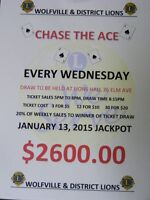 Chase The Ace Wolfville District Lions Club