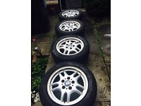 """Genuine BMW 16"""" alloys with very good tyres"""