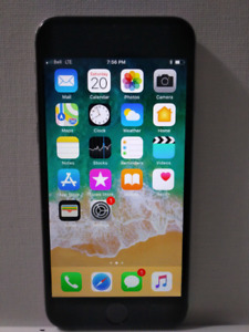 Apple IPhone 6 16gig on the bell network