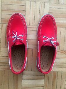 Original SEBAGO Men Docksides red shoes couleur rouge