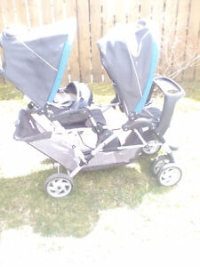 duo glider double stroller Excellent condition, folds easily,.