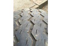Ford transit wheel + tyre part worn 195/70/15