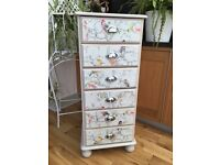 Shabbychic tall chest of drawers