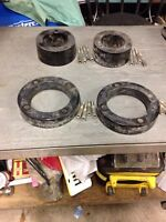 Front and back wheel spacers