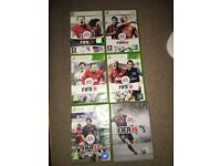 Xbox 360 games Joblot. FIFA and PES