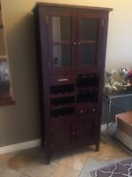 Indonesian teak liquor cabinet/ wine cabinet- excellent cond