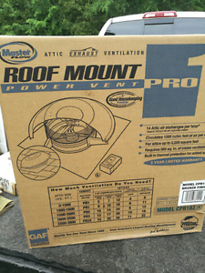 Powered roof vent
