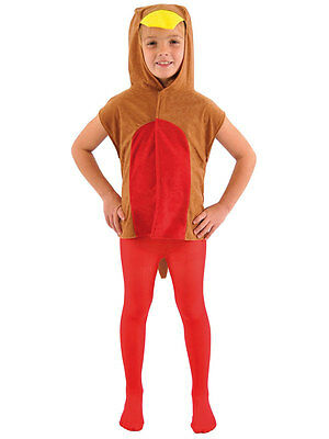 Childrens Robin Red Breast Bird Tabard Fancy Dress Costume 3-9 Yrs Xmas - Robin Bird Kostüm