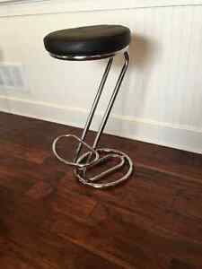 Backless Chrome Bar Stool