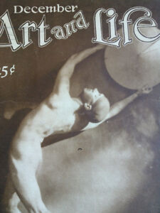 1925 art deco nude man magazine cover dancer photograph