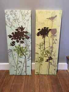 Set of canvas paintings