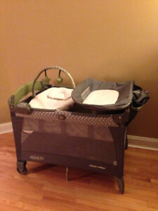 Graco Pack and Play - Green and Brown