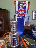 Montreal Canadiens Stanley Cup With Banner, Rare Collectible!