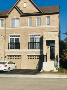 Furnished 3 + 1 Bedroom semi town house for rent in Ajax.